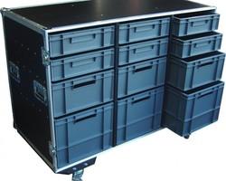 Flight case tiroir, bac de rangement