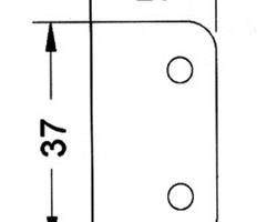 Renfort d'angle 20x37
