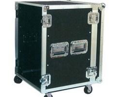"""Flight case rack 19"""" 12U a roulettes"""
