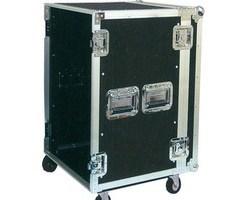 """Flight case rack 19"""" 14U a roulettes"""